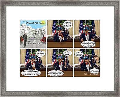 Obama As Uncle Sam I Framed Print
