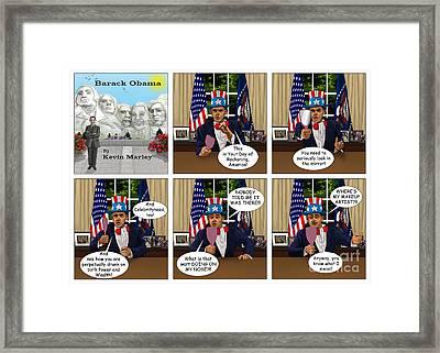 Obama As Uncle Sam II Framed Print