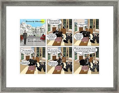 Obama N Freud I Framed Print by Kevin  Marley
