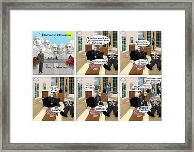 Obama N Freud II Framed Print