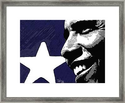 Obama Framed Print by Patrizio Farinacci