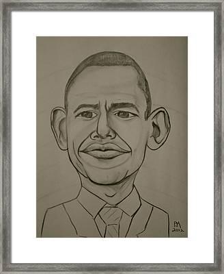 Obama Framed Print by Pete Maier