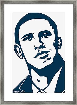 Obama Framed Print by Pramod Masurkar
