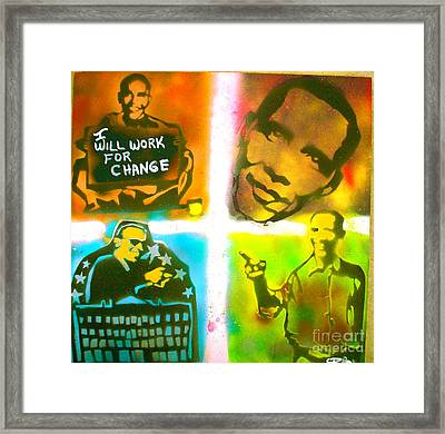 Obama Squared Framed Print by Tony B Conscious