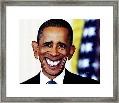 Obamacaricature Framed Print by Anthony Caruso