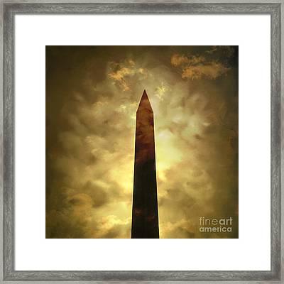 Obelisk. Illustration Framed Print by Bernard Jaubert