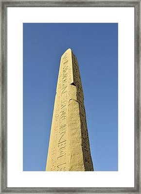 Obelisk Of Thutmose (tuthmosis) I At Obelisk Court Of Amenhotep IIi Of Precinct Of Amun-re, Karnak Temple Complex Near Luxor, Egypt Framed Print by Petr Svarc
