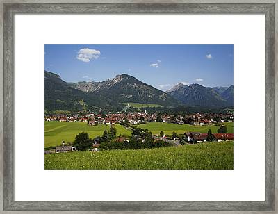 Oberstdorf, Allgäu Alps, Bavaria Framed Print