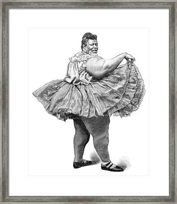 Obese Woman, 19th Century Framed Print by