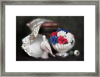 Objects In Still Life Framed Print by Tom Mc Nemar