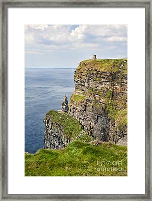 O'brien's Tower At Cliffs Of Moher Framed Print by Cheryl Davis