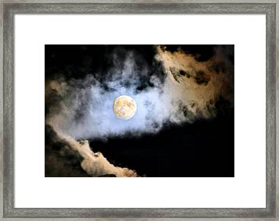 Obscured By Clouds Framed Print by Kristin Elmquist