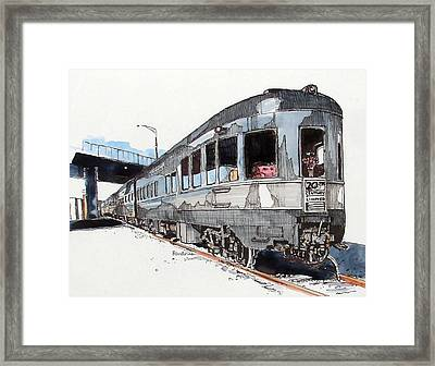 Framed Print featuring the painting Observation Car by Terry Banderas
