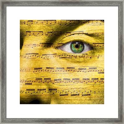 Obsessed With Music Framed Print by Semmick Photo