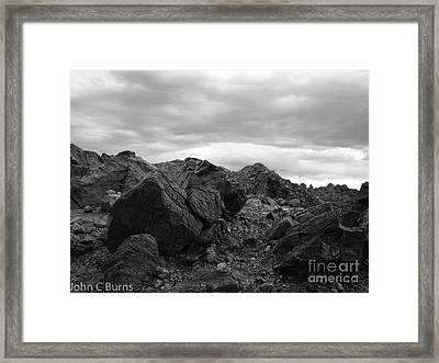 Framed Print featuring the photograph Obsidian Field by John Burns