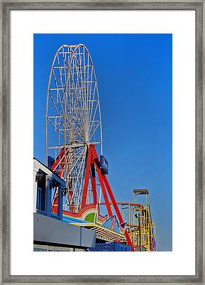 Oc Winter Ferris Wheel Framed Print