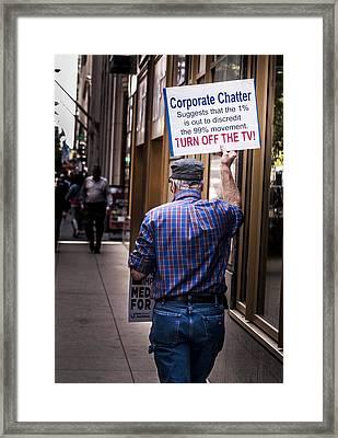 Occupy Chicago V Framed Print by Roger Lapinski
