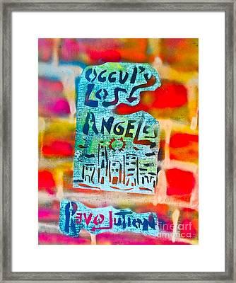 Occupy Los Angeles Framed Print by Tony B Conscious