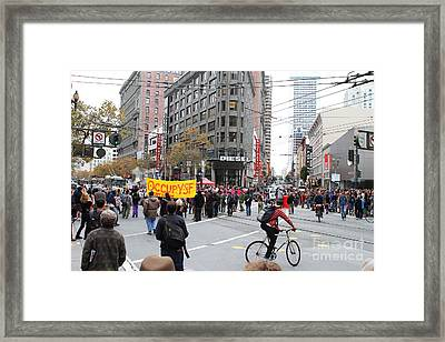 Occupy Sf . 7d9733 Framed Print by Wingsdomain Art and Photography