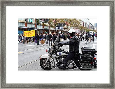 Occupy Sf . 7d9739 Framed Print by Wingsdomain Art and Photography