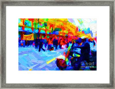 Occupy Sf In Abstract Framed Print