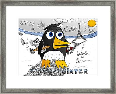 Occupy Winter In Paris Framed Print by Yasha Harari