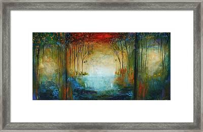 Ocean And Garden Framed Print