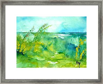 Ocean And Shore Framed Print by Robin Miller-Bookhout