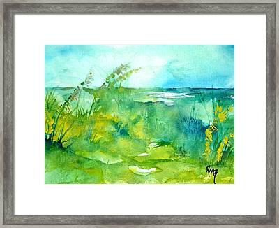 Ocean And Shore Framed Print