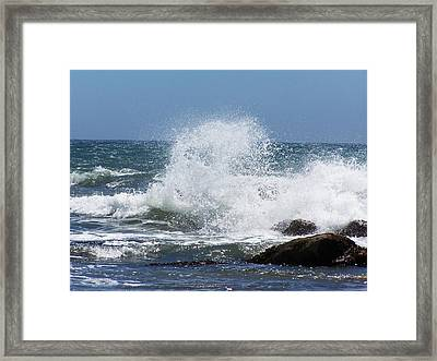 Framed Print featuring the photograph Ocean Blast by Christine Drake