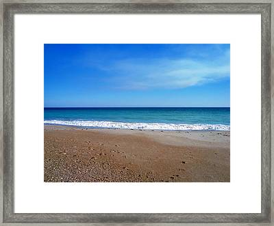 Ocean Blue Framed Print by Joan Meyland