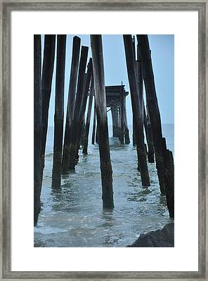 Ocean City 59th Street Pier Framed Print by Bill Cannon