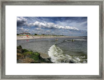 Ocean City Beach Framed Print by John Loreaux
