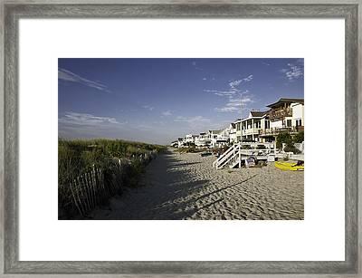 Ocean City Nj Sun Rise Framed Print by Paul Plaine
