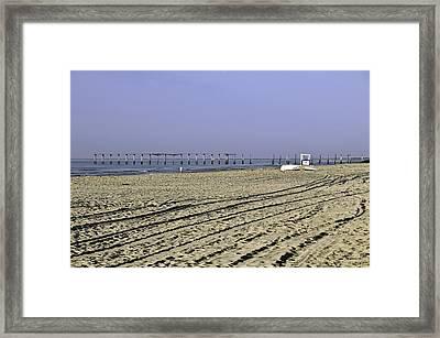 Ocean City Nj The Old Pier Framed Print by Paul Plaine