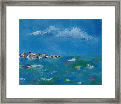 Framed Print featuring the painting Ocean Delight by Judith Rhue