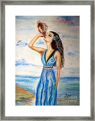 Framed Print featuring the drawing Ocean Dreams by Lori  Lovetere