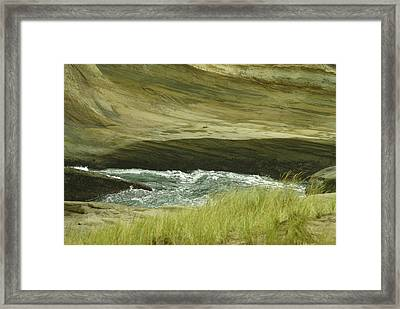Ocean Dunes Framed Print by Jerry Cahill
