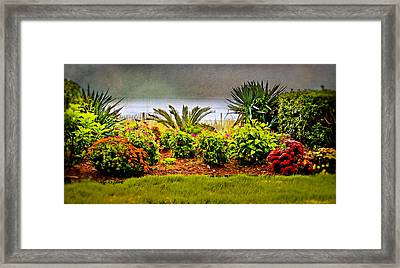 Framed Print featuring the digital art Ocean Garden by Mary Timman
