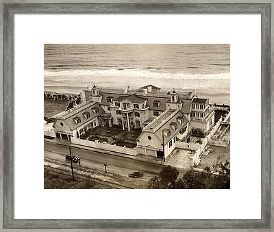 Ocean House, Marion Davies Landmark Framed Print by Everett