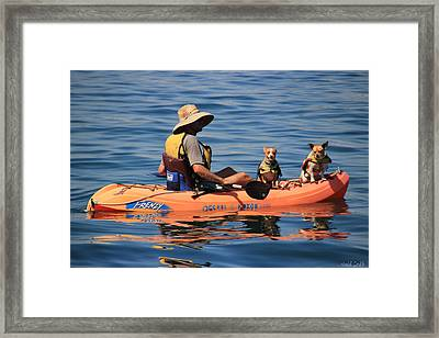 Ocean Kayaking Framed Print by Heidi Smith