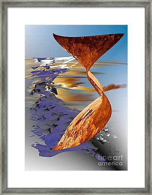 Framed Print featuring the digital art Ocean Of Time And Space by Leo Symon