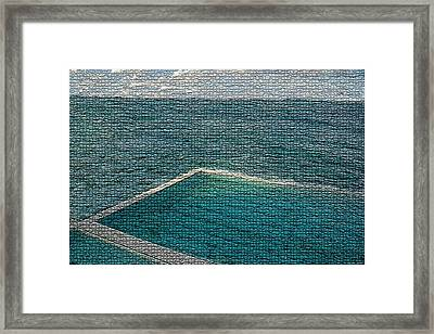 Ocean Pool Framed Print by Paula Greenlee