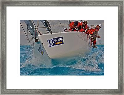 Ocean Racing Southern Florida Framed Print by Steven Lapkin
