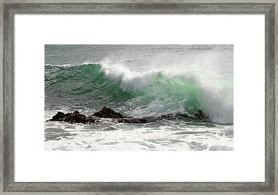 Framed Print featuring the photograph Ocean Spray by Michael Rock