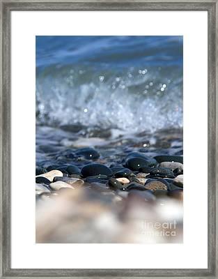 Ocean Stones Framed Print by Stelios Kleanthous
