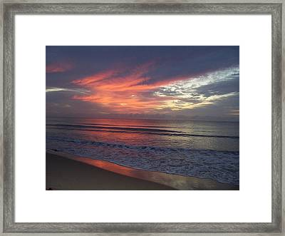 Ocean Sunrise Framed Print