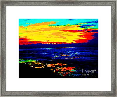 Framed Print featuring the photograph Ocean Sunset by Jasna Gopic
