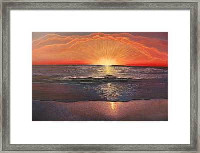 Ocean Sunset Framed Print