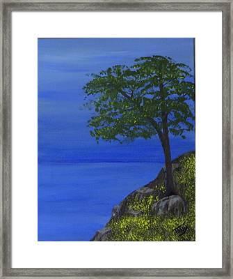 Ocean Tree Framed Print